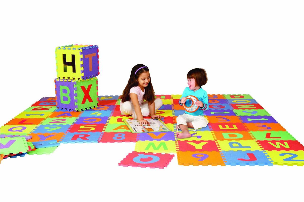Trademark Global Foam Floor Alphabet Puzzles Mat for Kids