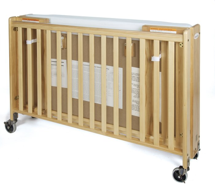 Full Size Folding Crib With Mattress and Sheets