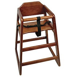 Challenger Knocked Down Walnut Highchair
