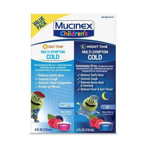 Children's Mucinex Mixed Berry - 4 fl oz/2pk