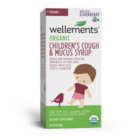 Wellements Organic Children's Cough & Mucus Syrup - 4 fl oz