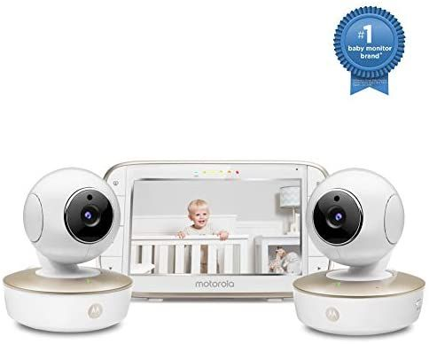 Motorola Video Baby Monitor - 2 Wide Angle HD Cameras with Infrared