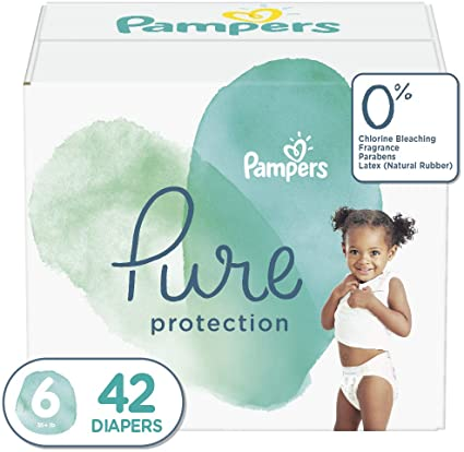 Pampers Pure Protection Diapers Size 6 42