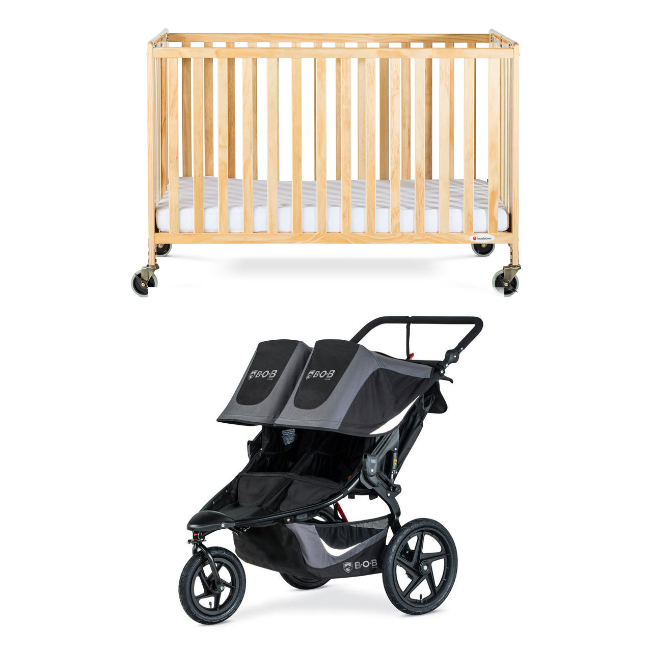 PACKAGE 18 ( FULL CRIB WITH DOUBLE STROLLER)