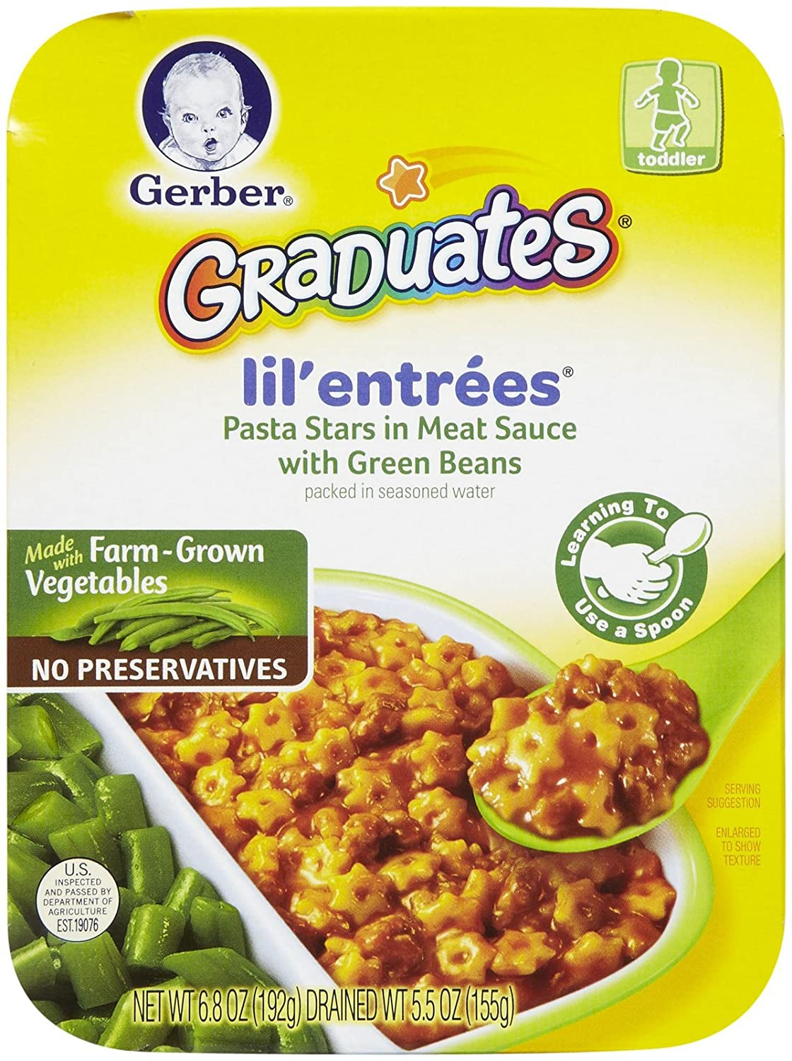 Gerber Pasta Stars with Green Beans