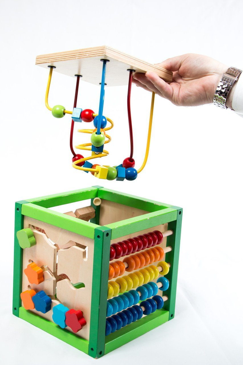 My First Learning Bead Maze Cube Activity Center